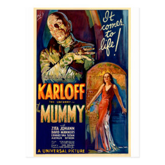 La película de la momia 1932 postales