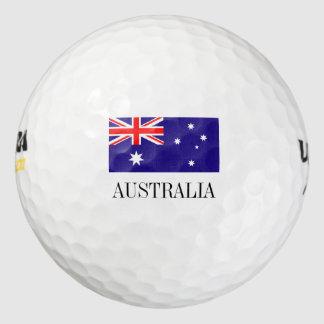 La pelota de golf australiana de la bandera fijó pack de pelotas de golf