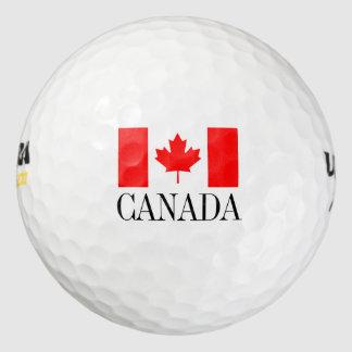 La pelota de golf canadiense de la bandera fijó el pack de pelotas de golf