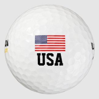 La pelota de golf patriótica de la bandera pack de pelotas de golf