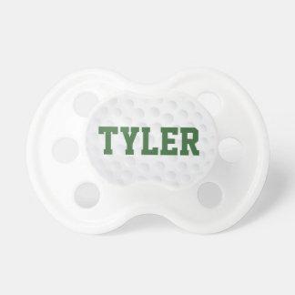 La pelota de golf se divierte el pacificador chupete de bebe