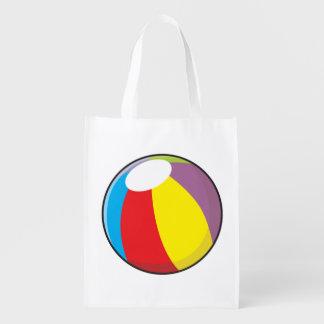 La pelota de playa plástica inflable de encargo bolsa para la compra
