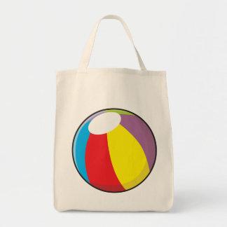 La pelota de playa plástica inflable de encargo bolsa tela para la compra