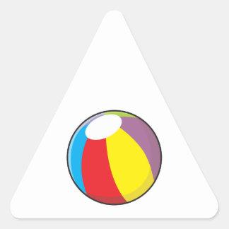 La pelota de playa plástica inflable de encargo pegatina triangular