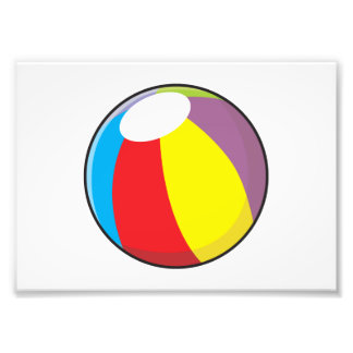 La pelota de playa plástica inflable de encargo impresion fotografica