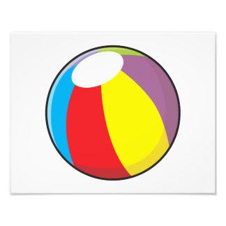 La pelota de playa plástica inflable de encargo arte fotografico