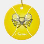 La pelota de tenis amarilla el | personaliza adorno