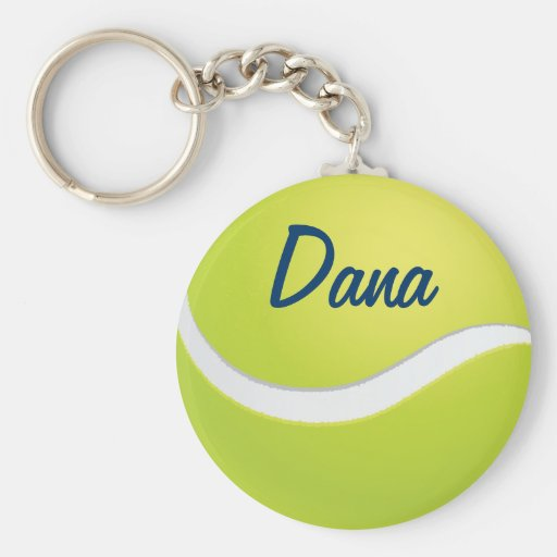 La pelota de tenis se divierte llavero