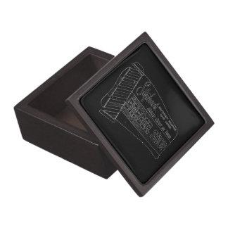 La peluquería de caballeros del vintage firma aden cajas de recuerdo de calidad