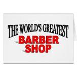 La peluquería de caballeros más grande del mundo tarjeton