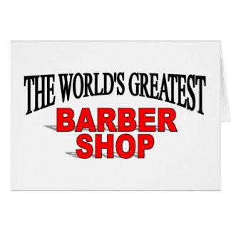 La peluquería de caballeros más grande del mundo tarjeta de felicitación