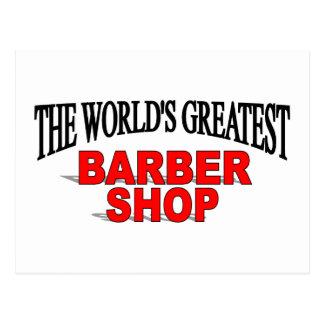 La peluquería de caballeros más grande del mundo tarjeta postal