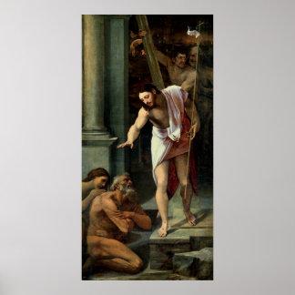 La pendiente de Cristo en el limbo C 1532 Posters