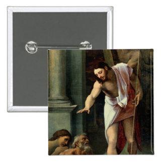 La pendiente de Cristo en el limbo, C. 1532 Pin Cuadrada 5 Cm