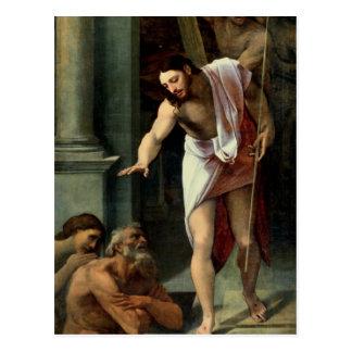 La pendiente de Cristo en el limbo, C. 1532 Postal