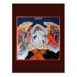 La pendiente de Cristo en tarjeta del rezo de Postal