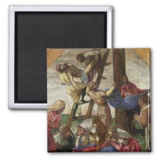 La pendiente de la cruz, c.1560-65 imán cuadrado