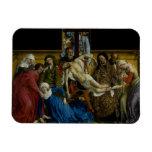 La pendiente de Rogier van der Weyden cruzado Iman De Vinilo