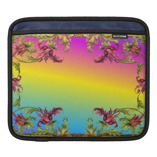 La pendiente del arco iris con los di púrpuras del manga de iPad