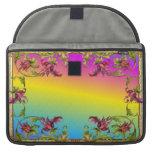 La pendiente del arco iris con los di púrpuras del funda para macbooks