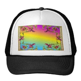 La pendiente del arco iris con los di púrpuras del gorros
