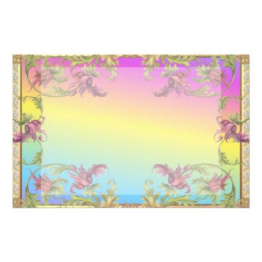 La pendiente del arco iris con los di púrpuras del papeleria de diseño