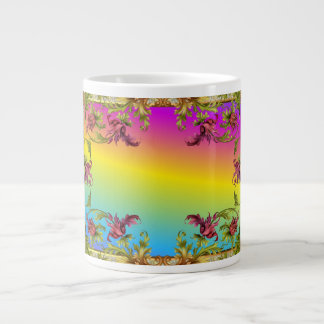 La pendiente del arco iris con los di púrpuras del taza grande