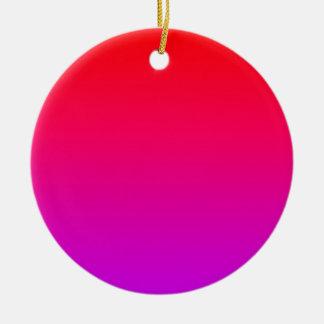 la pendiente inferior púrpura superior roja DIY Adorno Redondo De Cerámica