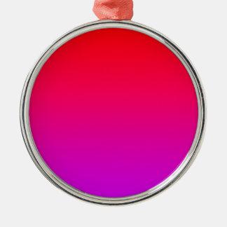 la pendiente inferior púrpura superior roja DIY Adorno Redondo Plateado
