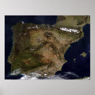 La península ibérica impresiones