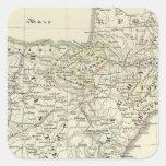 La península ibérica pegatina cuadrada