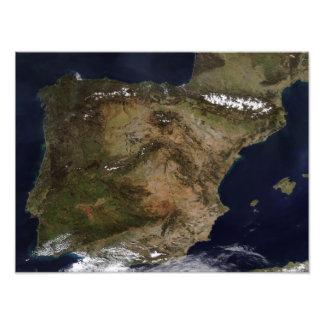 La península ibérica foto