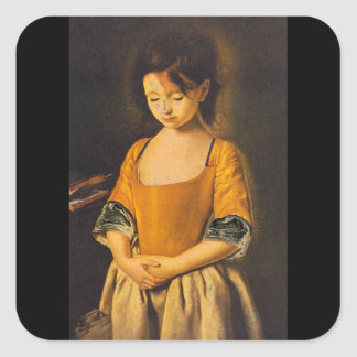 La Penitente', unknown artist_Portraits Square Sticker