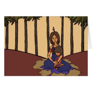 La pequeña animación 1 del soñador - madre y niño tarjeta de felicitación