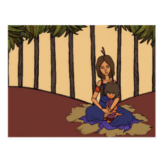 La pequeña animación 1 del soñador - madre y niño tarjetas postales