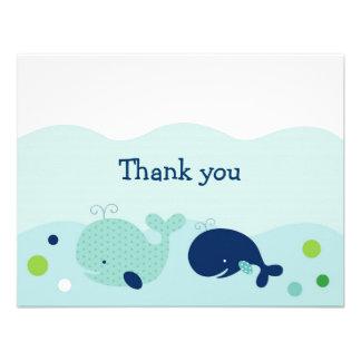 La pequeña ballena náutica le agradece las tarjeta anuncios personalizados