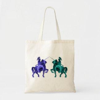 La pequeña bolsa de asas de los caballos medievale
