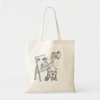 La pequeña bolsa de asas del artista