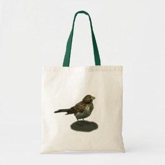 La pequeña bolsa de asas linda del pájaro