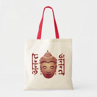 La pequeña bolsa de asas sánscrita de Buda
