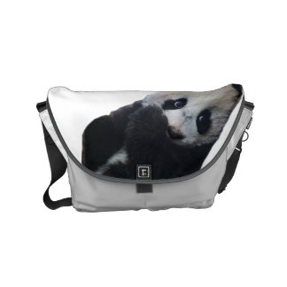 La pequeña bolsa de mensajero de la panda bolsas de mensajeria