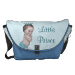 La pequeña bolsa de pañales del príncipe azul ciel