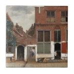 La pequeña calle de Juan Vermeer Azulejos