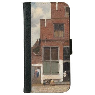 La pequeña calle de Juan Vermeer Funda Cartera Para iPhone 6