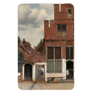 La pequeña calle de Juan Vermeer Imán Rectangular
