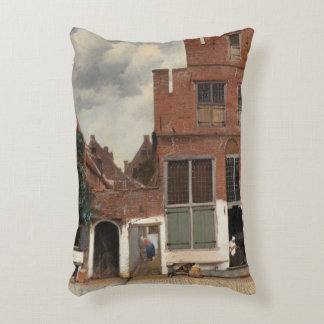 La pequeña calle de Juan Vermeer Cojín Decorativo