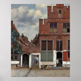 La pequeña calle de Juan Vermeer Póster