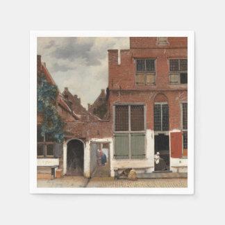 La pequeña calle de Juan Vermeer Servilleta De Papel