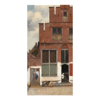 La pequeña calle de Juan Vermeer Tarjeta Personal Con Foto