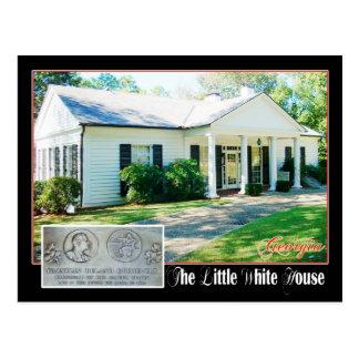 La pequeña Casa Blanca del FDR, Warm Springs, GA Tarjeta Postal